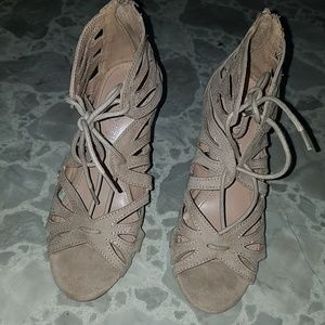New never worn!.. Tan Strappy Payless Heels